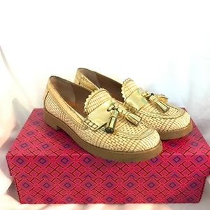Tory Burch Careen Runway Tassel Woven Loafers